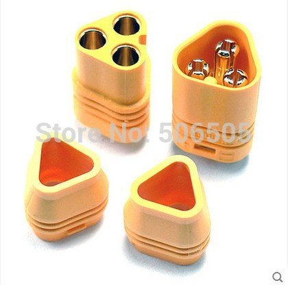 - Let's dream gold plated MT60 connector plug + socket for FPV high current 10pcs/lot