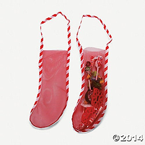 """10 18"""" MESH CHRISTMAS STOCKINGS Candy Toy Favor Stockings NEW"""