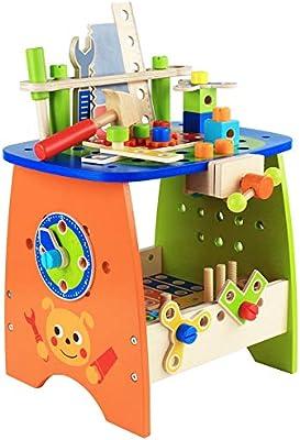 Juguetes para niños, combinación de tornillos y tuercas de madera ...
