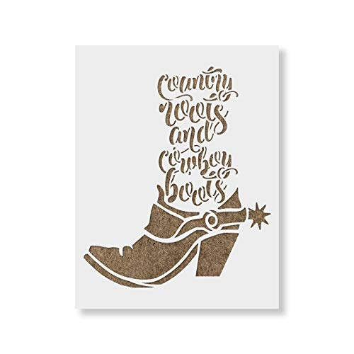 Country Roots Stencil Template - Reusable Stencils for Painting in Small & Large Sizes