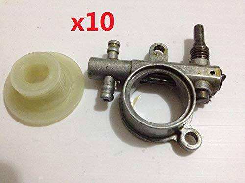 10 Set 2500/3800 Chainsaw Spare Parts Oil Pump with Worm Drive Gear Fit For Chain Saw 25CC/38CC Wholesale low price