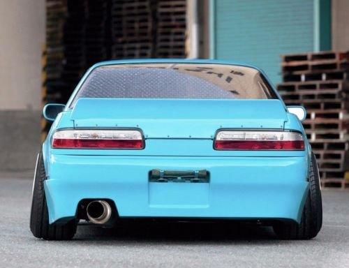 Replacement for 1989-1994 Nissan 240SX S13 EOS Rocket Bunny Style Fiberglass Primer Black Rear Trunk Lid Wing Spoiler SPOILER-033-FRP