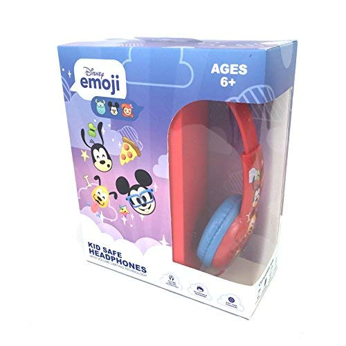 Emoji Kid Safe Over-The-Ear Headphones Volume Limiting (Mickey)