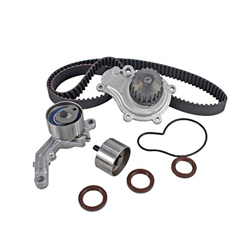- DNJ TBK151AWP Timing Belt Kit with Water Pump for 2003-2010 / Chrysler, Dodge, Jeep/Caravan, Liberty, PT Cruiser, Sebring, Stratus, Voyager, Wrangler / 2.4L / DOHC / 16V / EDZ/VIN 1, VIN 9
