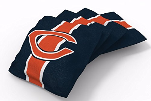 PROLINE 6x6 NFL Chicago Bears Cornhole Bean Bags - Stripe Design (A)