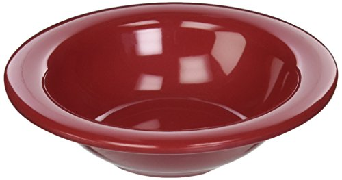 Carlisle 3304258 Sierrus Melamine Rimmed Fruit Bowls, 4.5-oz., Roma Red (Set of 48)