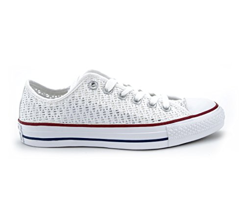 Converse All Star Mandriles 551541 ganchillo Blanco Blanco Blanco Negro White / White / Black (Weiß)