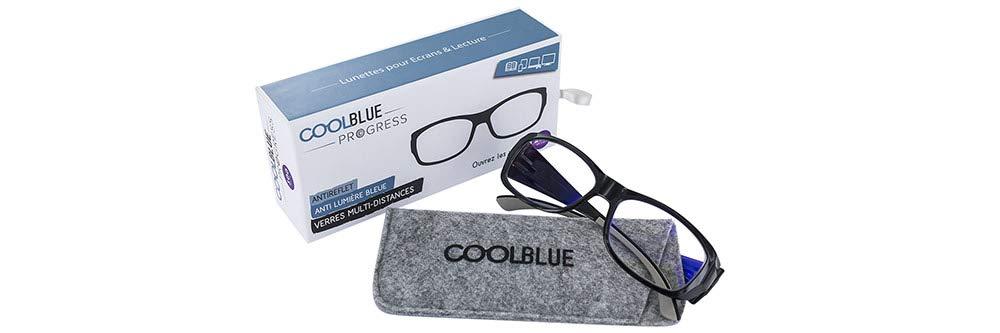 +2.00 Varionet Cool Blue CB-200PG01-C01 Progress 200 Lunettes multidistances anti-lumi/ère bleue Noir//Beige