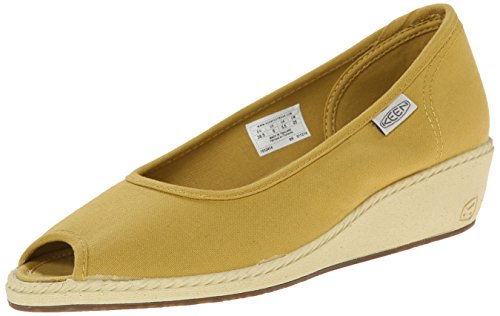 KEEN Women's Cortona Wedge Canvas Shoe, Ceylon Yellow, 9.5 M