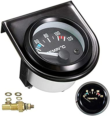 "2/"" 52mm Car Auto Digital LED Water Temp Temperature Meter Gauge 40-120°C DC 12V"