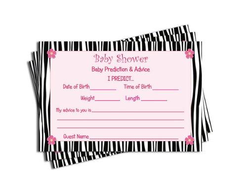 zebra baby shower invitations - 1