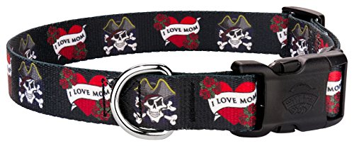 Country Brook Design | Deluxe I Love Mom Dog Collar - Medium