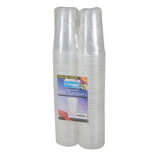kingfisher bicchieri di plastica usa e getta 1/pinta trasparenti confezione da 100