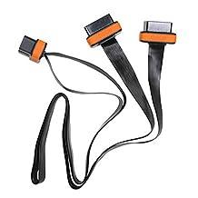 2 Port Obd2 16pin Extension Cable Flat Noodle Obd Cord Wire 100cm