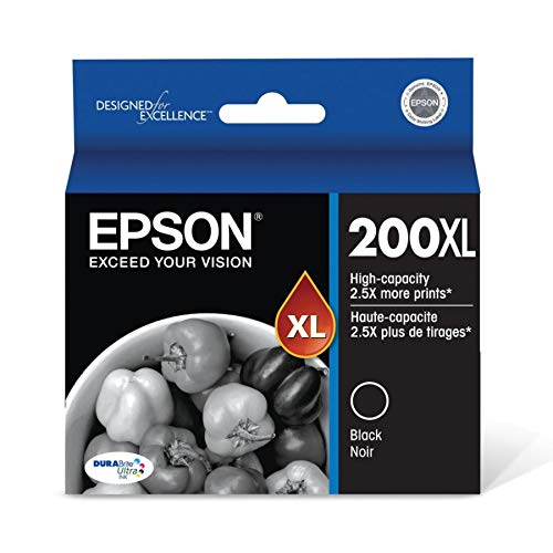 - Epson 200XL High Yield Capacity Inkjet Cartridge Black T200XL120