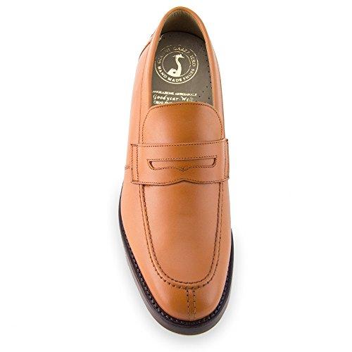 Masaltos Zapatos de Hombre con Alzas Que Aumentan Altura Hasta 7 cm. Fabricados EN Piel. Modelo Stanford Marron