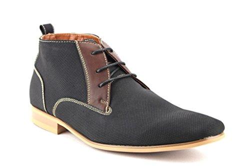 Ferro Aldo Mens 806380E Ankle High Desert Lace Up Casual Dress Boots