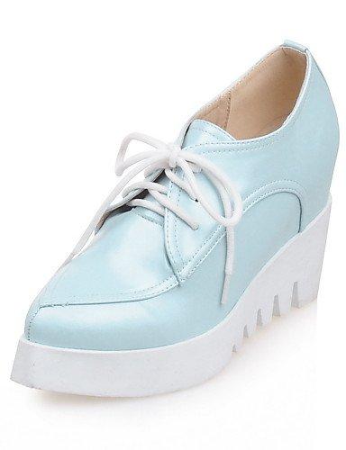 in Scarpe Eu40 a con da tacco Vestito donna Cn41 punta Blu bianco Hug rosa us9 Njx Uk7 a punta Tacchi blu similpelle 5ZxqBB