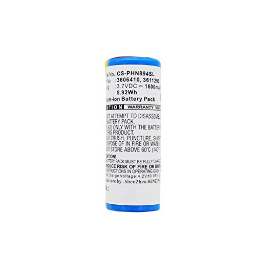 Cameron Sino Battery Li-ion 1600mAh/5.92Wh 3.7V Rechargeable Battery Pack Durable Replacement Batteries Compatible with Braun 5671, 5673, 5675, 720, 760, 760CC Extended Shaver Battery ()