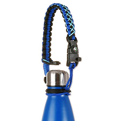 - Greant Paracord Handle Compatible with Swell, MIRA, Simple Modern and Other Cola Shaped Stainless Steel Water Bottle Carrier | Holder - Fits 12oz, 17oz and 25 oz (Blue)