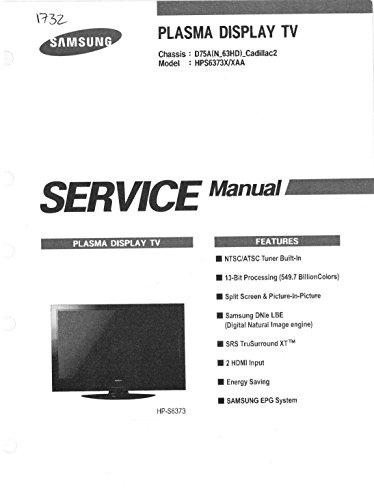 SAMSUNG HPS6373X/XAA SERVICE MANUAL