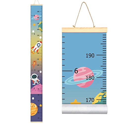- Sylfairy Baby Girls Growth Chart Ruler, Wood Frame Fabric Canvas Height Measurement Ruler from Baby to Adult for Child's Nursery Room Decoration Unique Baby Shower Gift 79