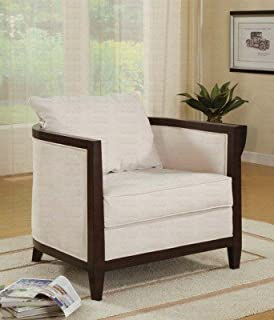 Coaster Home Furnishings Transitional Accent Chair, Off White
