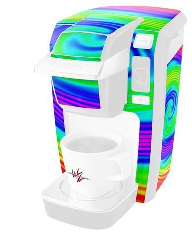 Rainbow Swirl – デカールスタイルビニールスキンKeurig k10 / k15 Mini Plusコーヒーメーカー( Keurigに含まれません   B0181DB3KS