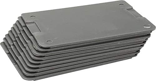 Durham - 3'' High Gray Bin Divider for Use with 119-95 - 9/Case (2 Cases)