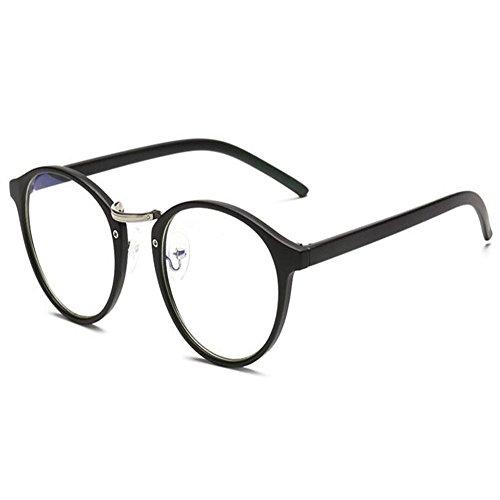 Lente radiación luz Mujer Claro Redondas Anti azul Gafas Marco Moda Transparente Anti Xinvision UV Computadora Arena Hombre Negra Eyewear COXqw8w