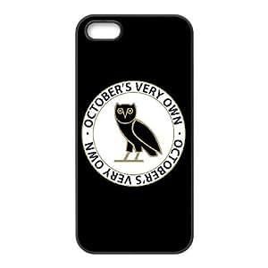 iPhone 5,5S Phone Case Black Drake Ovo Owl WQ5RT7399445