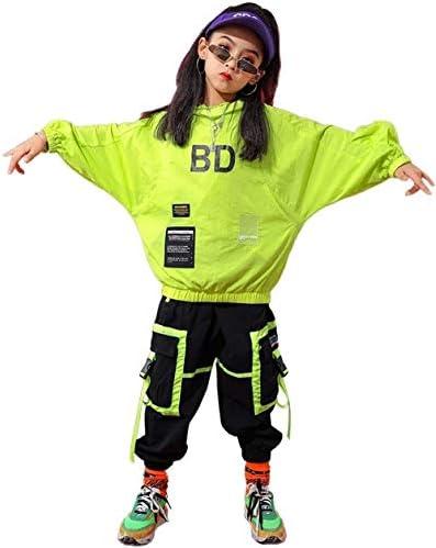 キッズダンス衣装 キッズ ダンス 衣装 ヒップホップ HIPHOP 子供 ダンストップス Tシャツ パンツ サルエル 男の子 女の子 ジャズダンス ステージ衣装 ゆったり 練習着 演出 体操服 (トップス+パンツ,140)