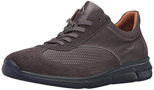 Aquatalia Men's Zander Fashion Sneaker Medium Grey