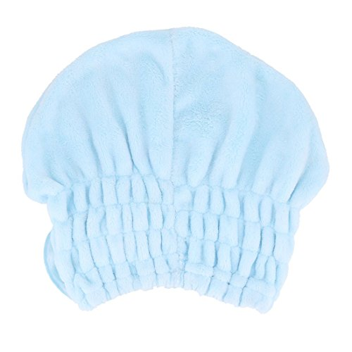 Amazon.com: eDealMax Polar de Coral Baño nudo de la Mariposa Banda elástica toalla de sequía Pelo seco Cap Blue Sky: Home & Kitchen