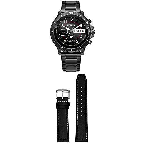 Citizen CZ Smart HR Heart Rate Smartwatch 46mm Gray IP Stainless Steel bracelet Watch, Powered by Google Wear OS