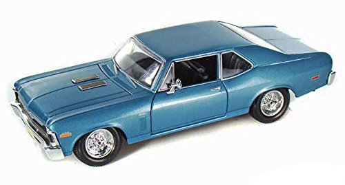 Special Edition Display (Maisto New 1:24 Display Special Edition Collection - Blue 1970 Chevrolet Nova SS Coupe Diecast Model Car (Without Retail Box))