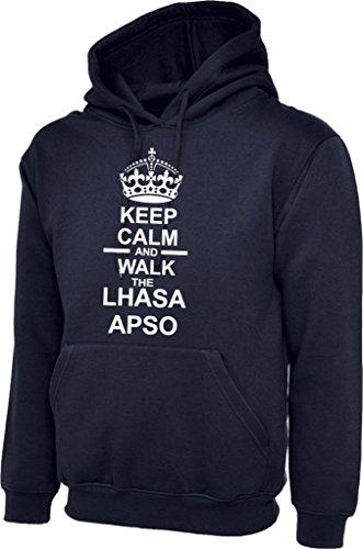 Keep Calm /& Walk The Lhasa Apso Dog Mens Womens Hoody Hoodie Hooded Sweatshirt