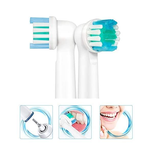 LSQtronics 16 Testine di Spazzolino da Denti di Sostituzione Compatibili per lo Spazzolino Elettrico Braun Oral-B… 2 spesavip