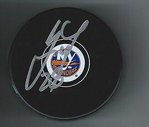 Marek (New Jersey Devils) Zidlicky Autographed Puck - York Islanders - Autographed NHL Pucks