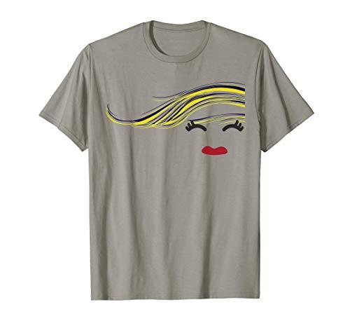 Windy Hair Emoji Girl Shirt]()