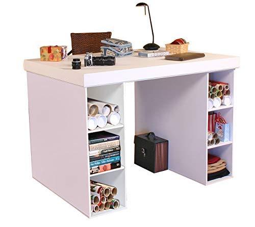Venture Horizon Project Center Desk with 2-3 Bin Cabinets-White