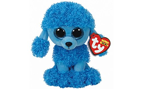 TY Beanie Boo 6' & Inspirational Magnet (Mandy Blue Poodle)