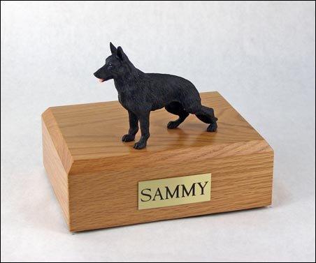 (Ever My Pet German Shepherd Figurine Urn Black Large)