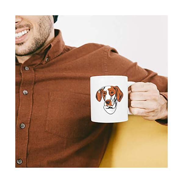 Custom Funny Coffee Mug Coffee Cup Ariege Pointer Head White Ceramic Tea Cup 11 OZ Design Only 5