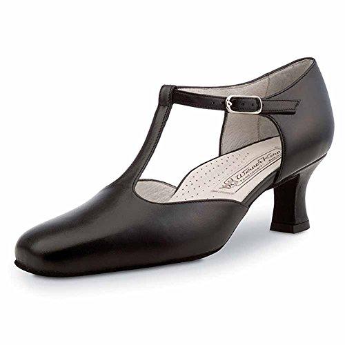 Werner Kern–Zapatos de baile para mujer Celine 5,5Comfort piel negro