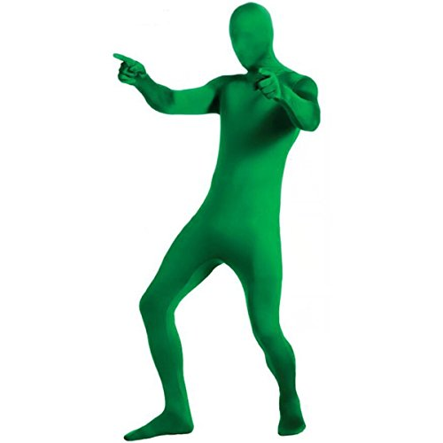 BCP Green Color Unisex 2nd Skin Zentai Full Body Suit for Photo, Video or Stage Show