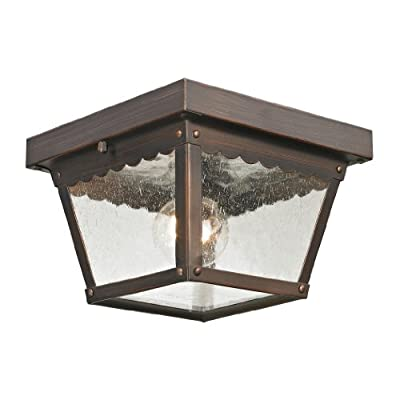 Thomas Lighting Springfield Flush Mount, Hazelnut Bronze