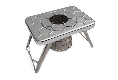 nCamp Compact Wood Burning Camping Stove, Backpacking Hiking Stove / Collapsible / Lightweight / Stainless Steel for Outdoors