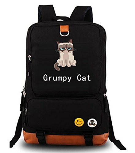 YOYOSHome Anime Grumpy Cat Cosplay Bookbag College Bag Daypack Backpack School Bag (1)