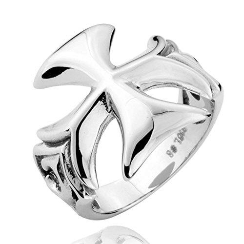 GDSTAR Jelwelry lots World War II Iron Cross Ring TITANIUM S